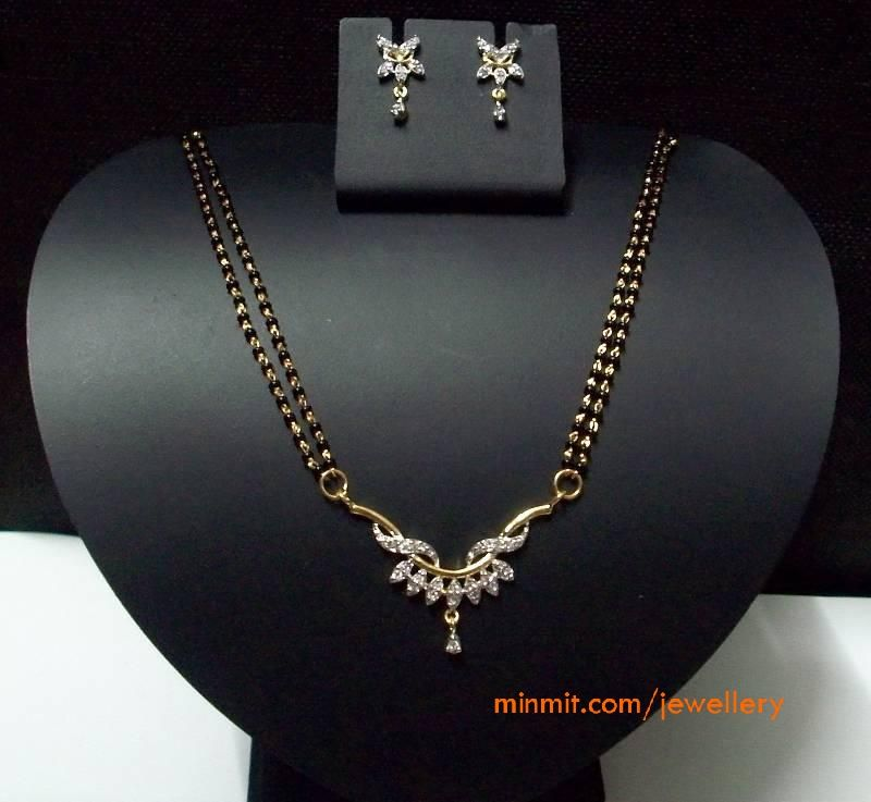 Simple black beads necklace with diamond pendant diamond pendant gold beads mangalsutra diamond pendant aloadofball Gallery