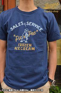 [BARNSOUTFITTERSバーンズ直営店]16/天竺ヴィンテージ加工かすれプリントペンギン半袖Tシャツ
