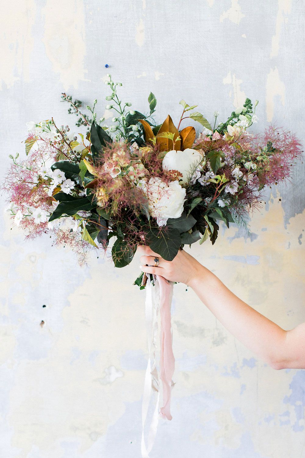 Moody and magnolias flower bouquet inspiration - perfect for a ...