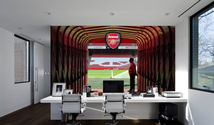 Arsenal Full Wall Tunnel Wall Stickers Football Stickers Bedroom Decorations Kids Bedroom Arsenal Af Wall Stickers Bedroom Football Bedroom Bedroom Decor