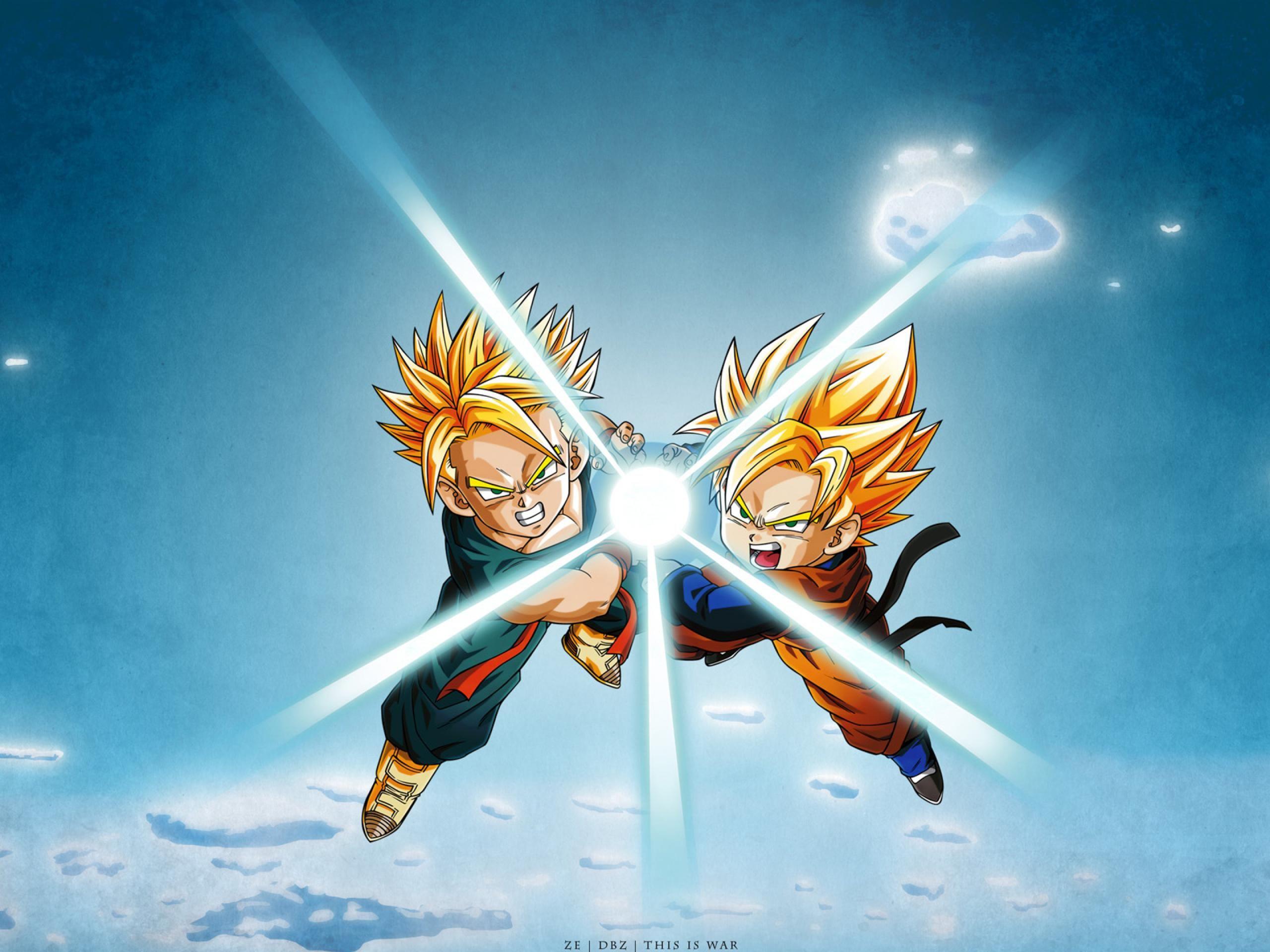 Dragon Ball Z Wallpaper Hd Trunks And Goten Kamehameha Dragon Ball Wallpapers Anime Dragon Ball Dragon Ball