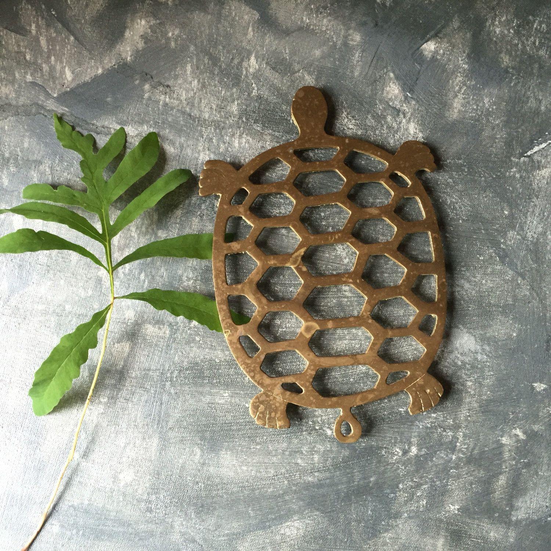 Br Turtle Trivet Vintage Pot Holder