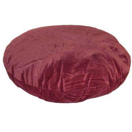 Amazon.com: Happy Hounds Stella Round Dog Bed, Large 42-Inch, Garnet: Pet Supplies