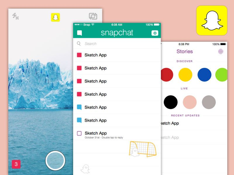 Snapchat Ios Template Free Design Resources Snapchat Snapchat Ios