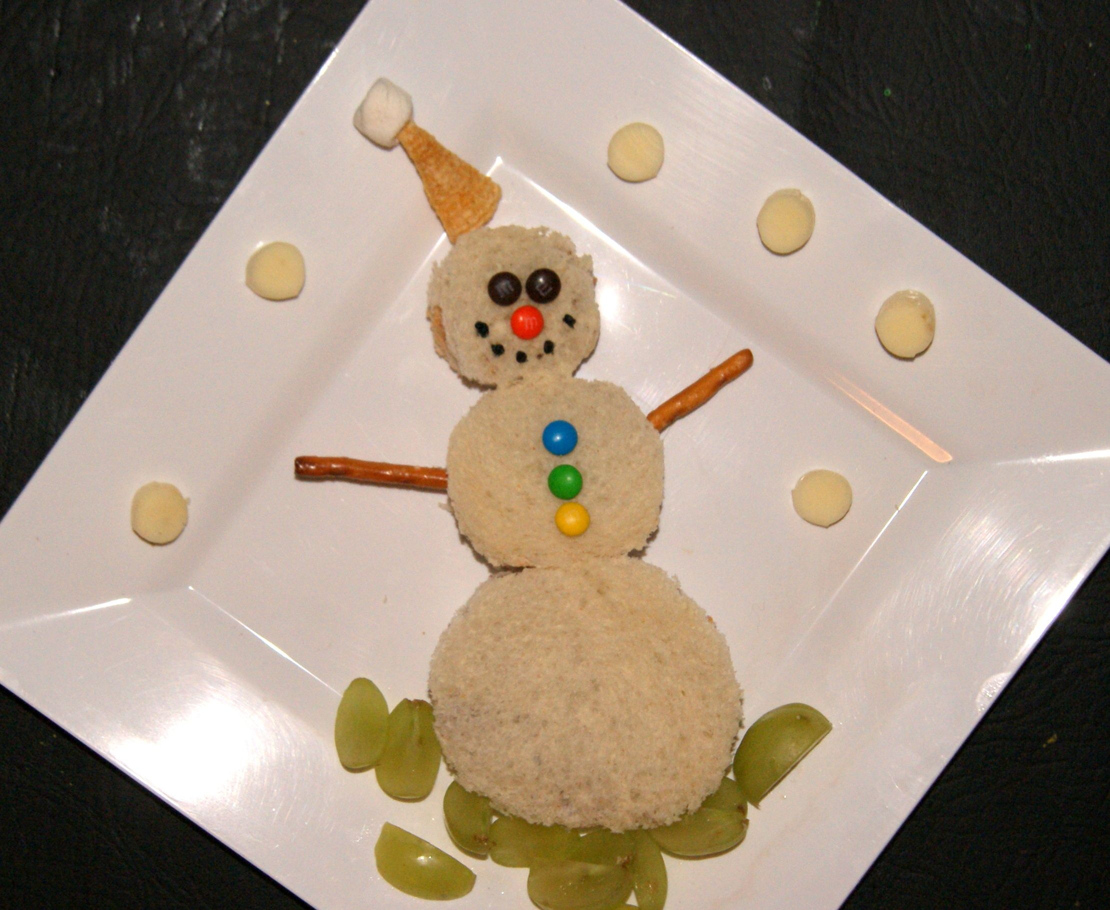 Snowman Sandwich, Toddler Time Tips Amazing Christmas Ideas And Projects