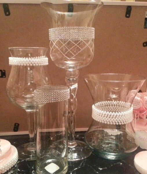 04d2b8822655 Diamond and pearls candy vase  candybuffet  diy  babyshower ...