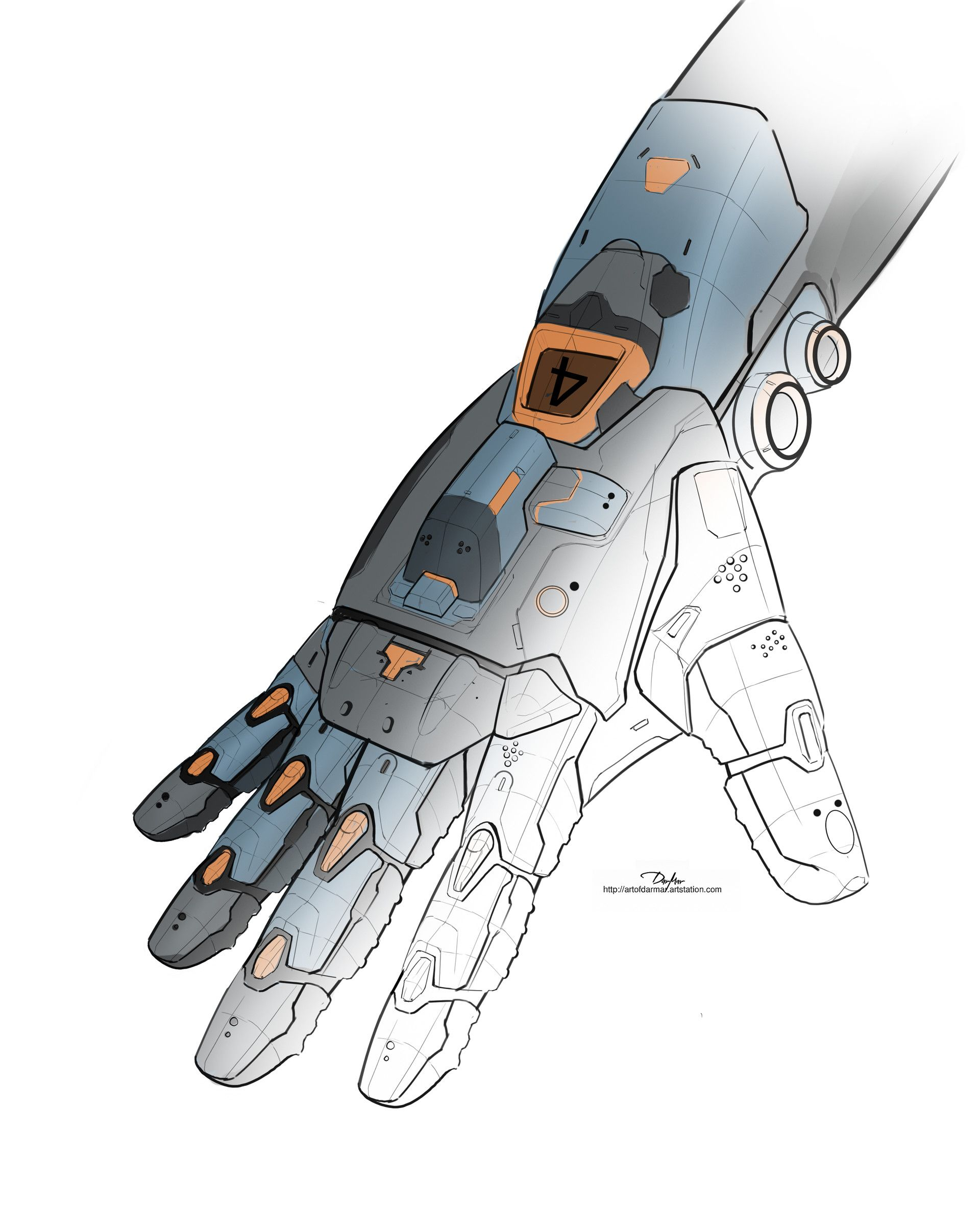 ArtStation - MECHANICAL ARMOR HAND 01, DARKO DARMAR MARKOVIC ...
