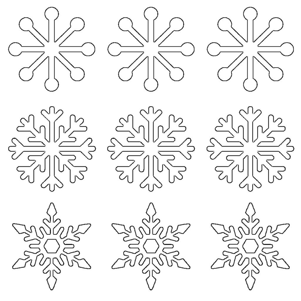 Free printable snowflake templates large small stencil free printable snowflake templates large small stencil patterns negle Images