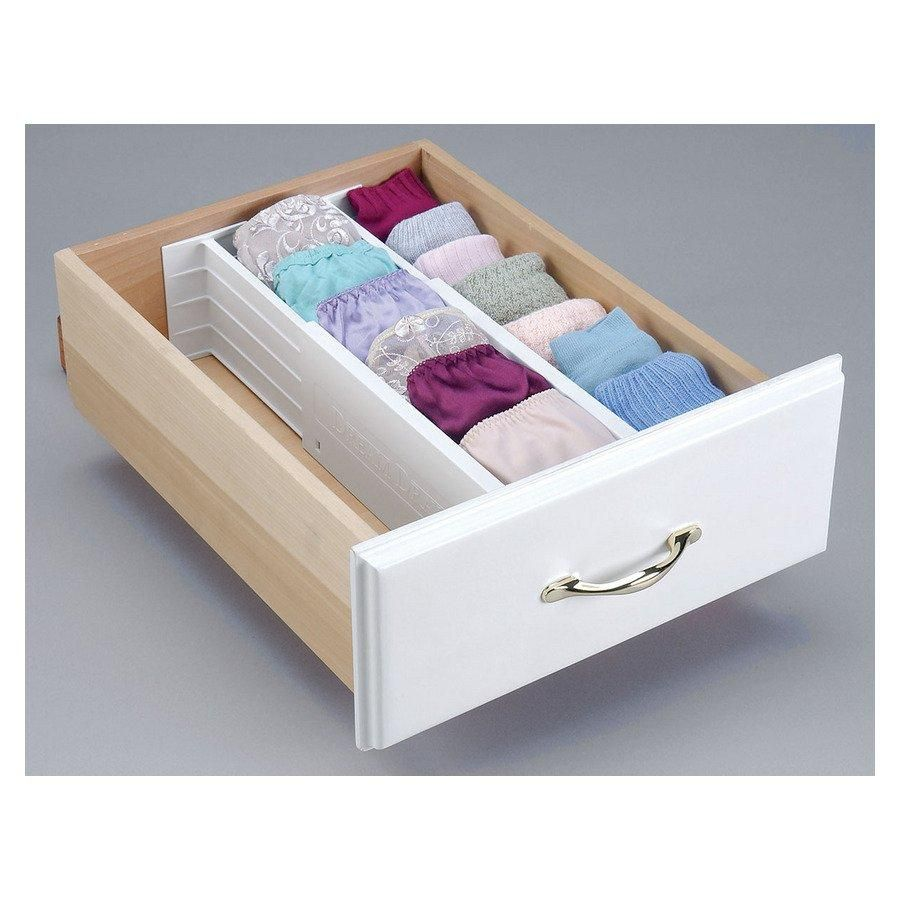 a drawer organizer that can be used to divide drawers front to back or side to side without any. Black Bedroom Furniture Sets. Home Design Ideas