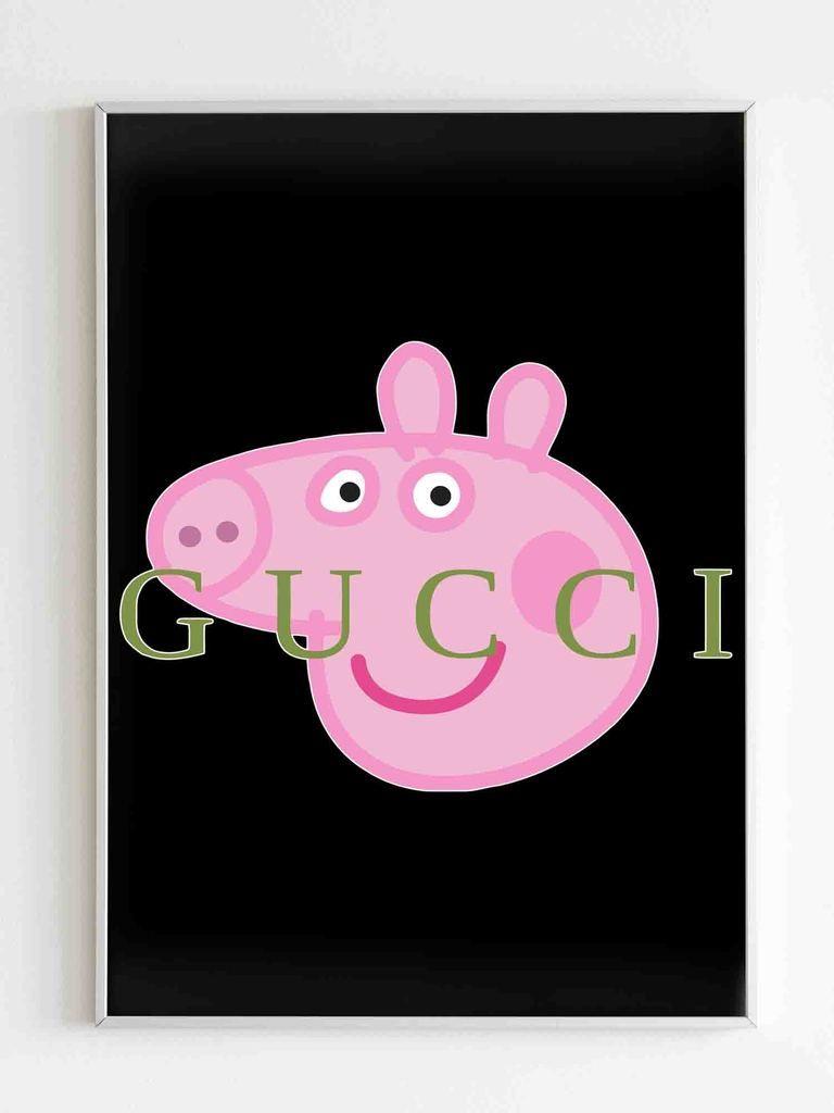Peppa Pig Gucci Parody Poster Peppa Pig Full Episodes Peppa Pig Friend Cartoon