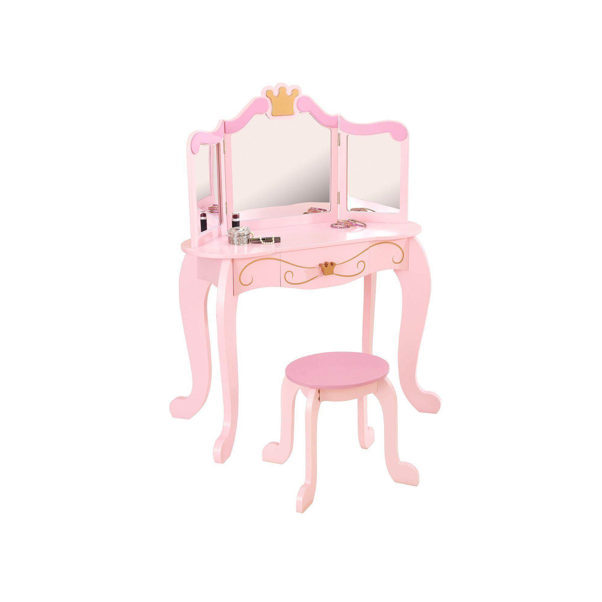 Kidkraft Princess Vanity Stool Set Girls Vanity Table Little