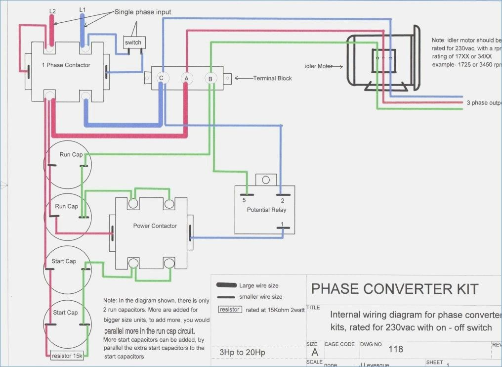 rotary phase converter wiring diagram – crayonbox  diagram