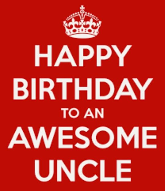 Happy Birthday Card Uncle