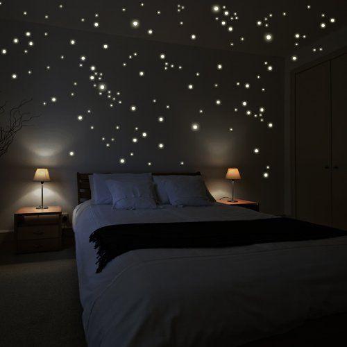Bett Sternenhimmel leuchtpunkte für sternenhimmel wohnaccessoires deko