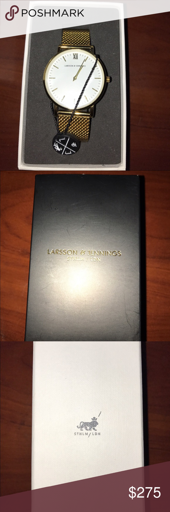 Larsson & Jennings Lugano 40mm Gold Watch Was a gift that I dont need. NEVER WORN Larsson & Jennings Accessories Watches