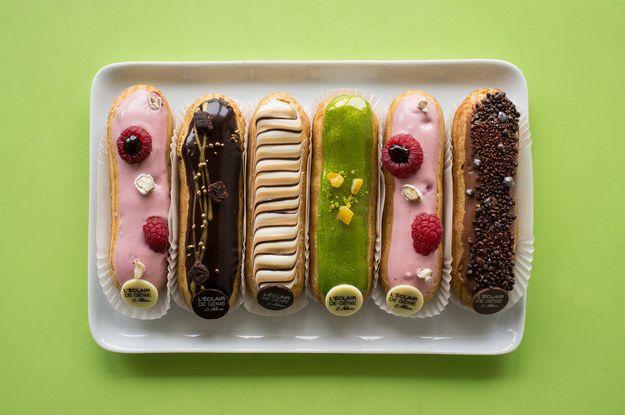 The éclairs from L'éclair de génie | 27 Of The Most Delicious Cheap Eats In Paris
