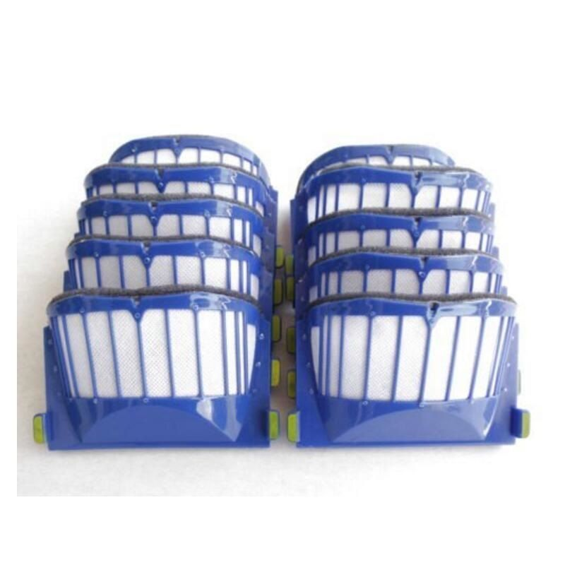 10 pcs Blue AeroVac Hepa Filter for iRobot Roomba 500 600