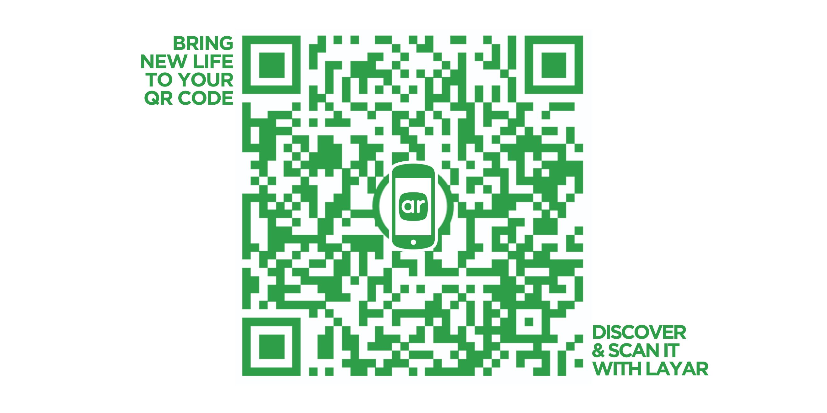Add Augmented Reality to your QR Code with @Layar . Download the ...