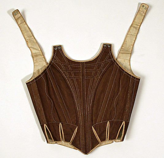 European Heritage By Wood Mode: Corset Date: 1780s–90s Culture: European Medium: Cotton