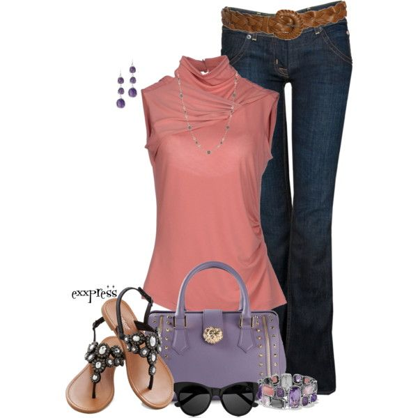 Pink and Purple, created by exxpress on Polyvore