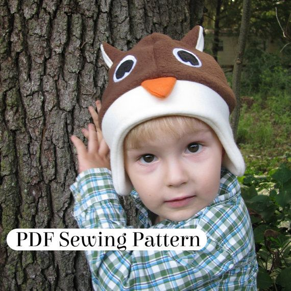 Fleece Owl Hat PDF Sewing Pattern Woodland by LambkinCreative ...