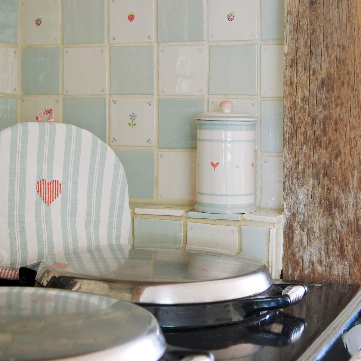 Duck Egg Green Kitchen Tiles