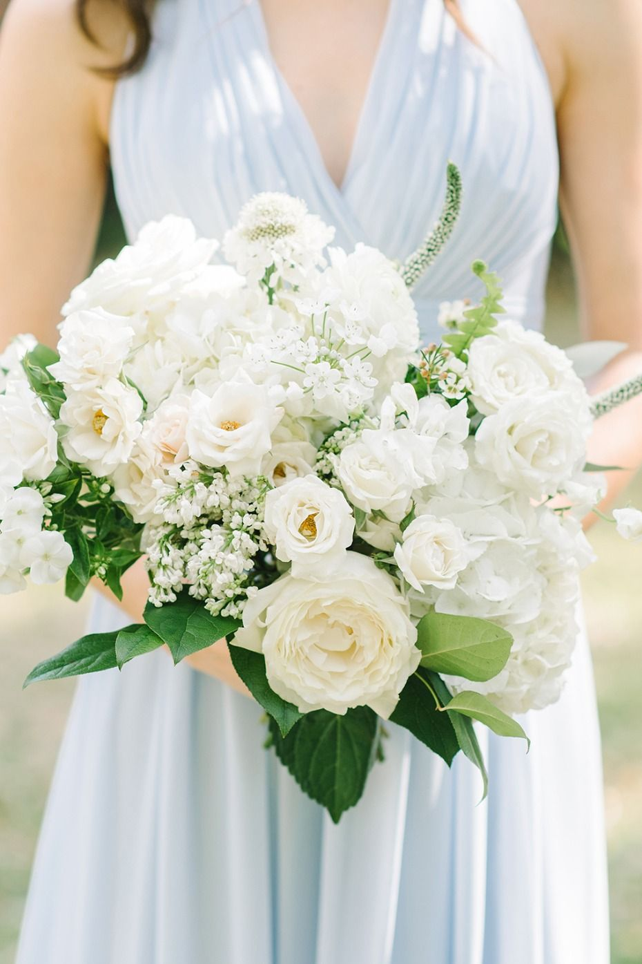 A Classic Pastel Blue And White Outdoor Wedding For 70k White