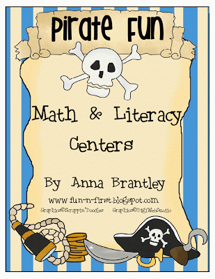 Pirate Fun Math and Literacy Centers!!!!