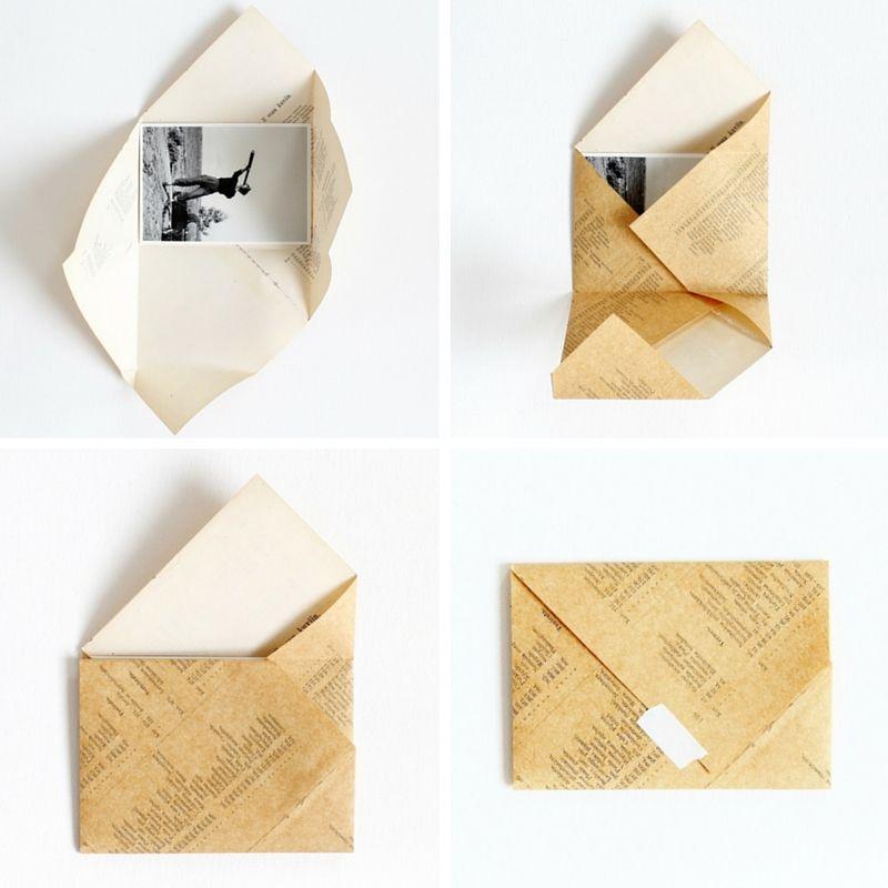 Diy Folded Envelopes  Envelopes Origami And Craft