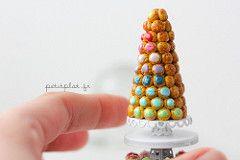 Rainbow Croquembouche - Miniature Food | by PetitPlat - Stephanie Kilgast