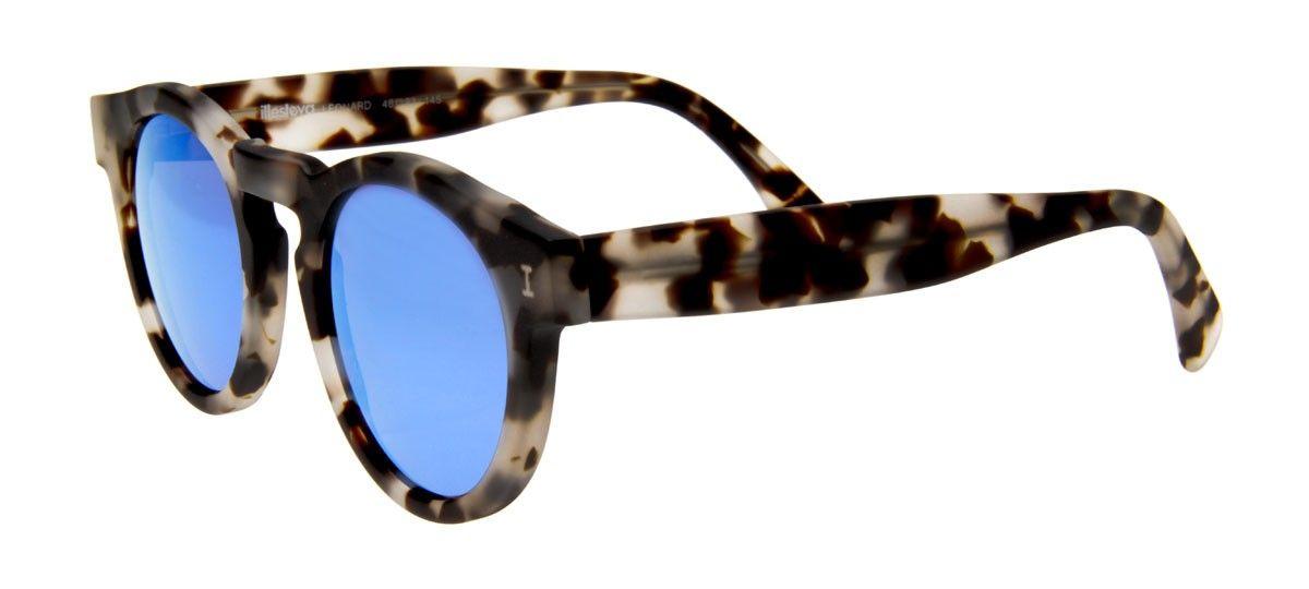 bbf2ce162 Óculos Illesteva Leonard Camuflado com Lentes Espelhada Azul   Eu ...