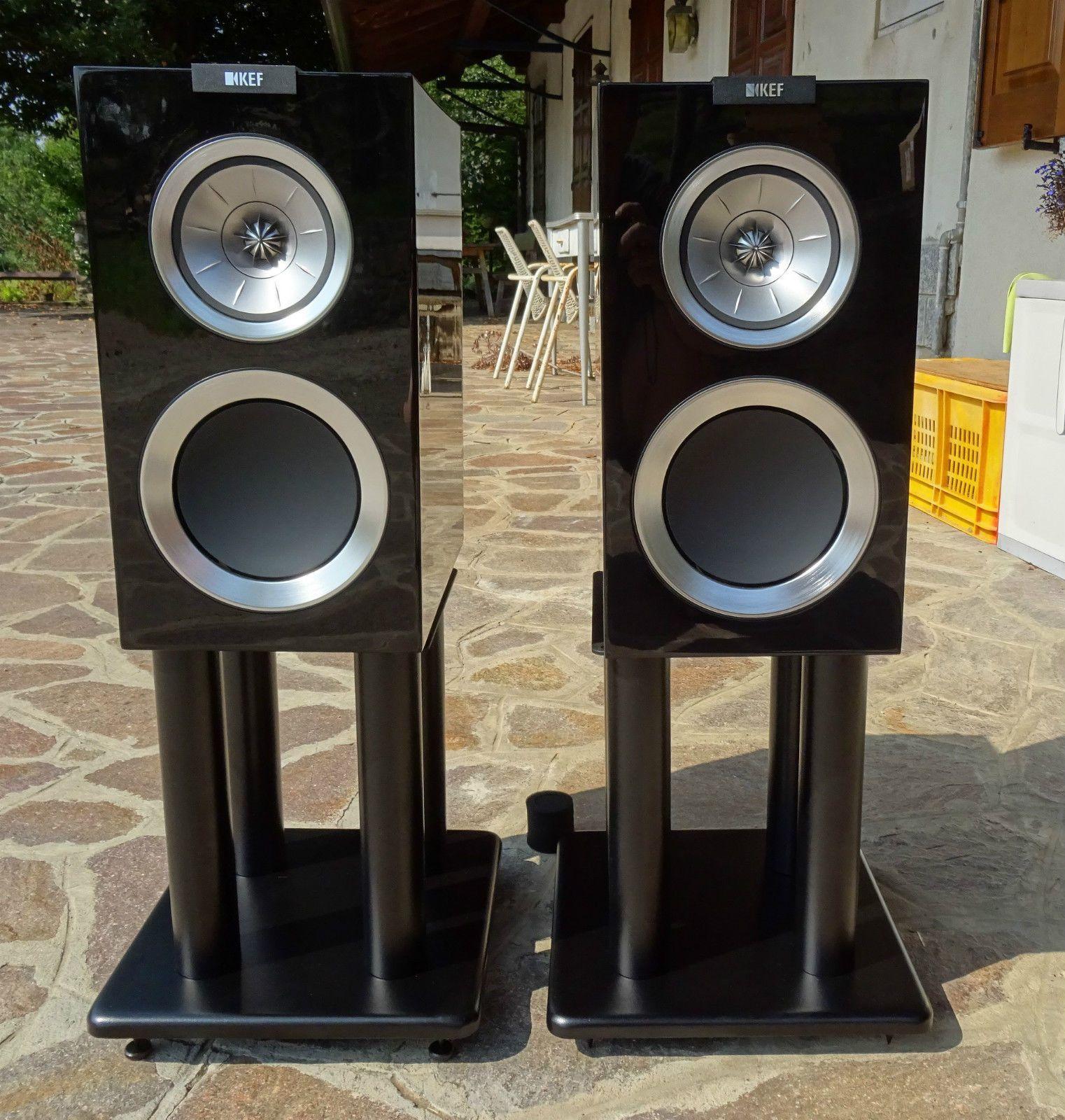 KEF R300 Stand Mount Bookshelf Speaker Atacama SL300 Sommer Cable Orbit