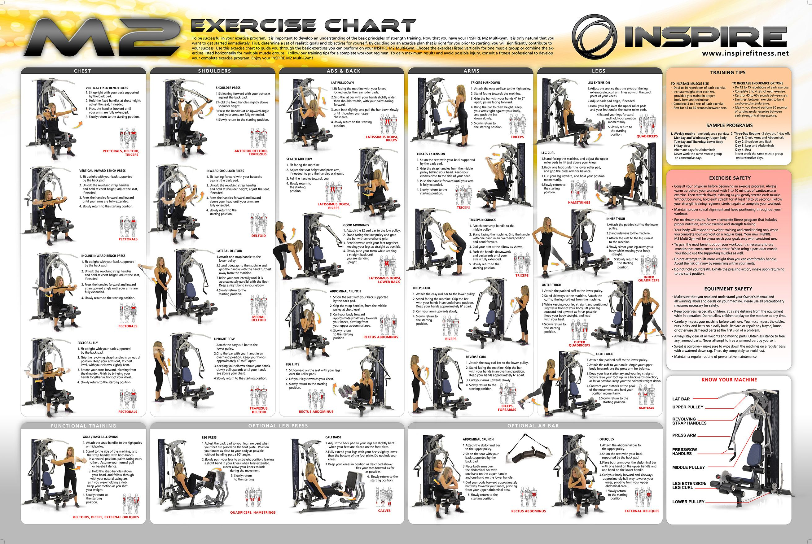 weider home gym exercise chart weight machine workouts pinterest