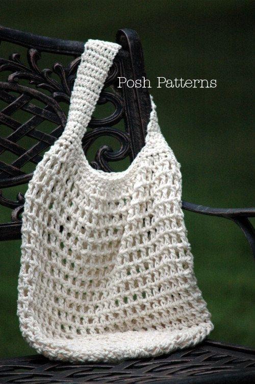 Crochet PATTERN - Crochet Market Bag Pattern - Crochet Patterns ...