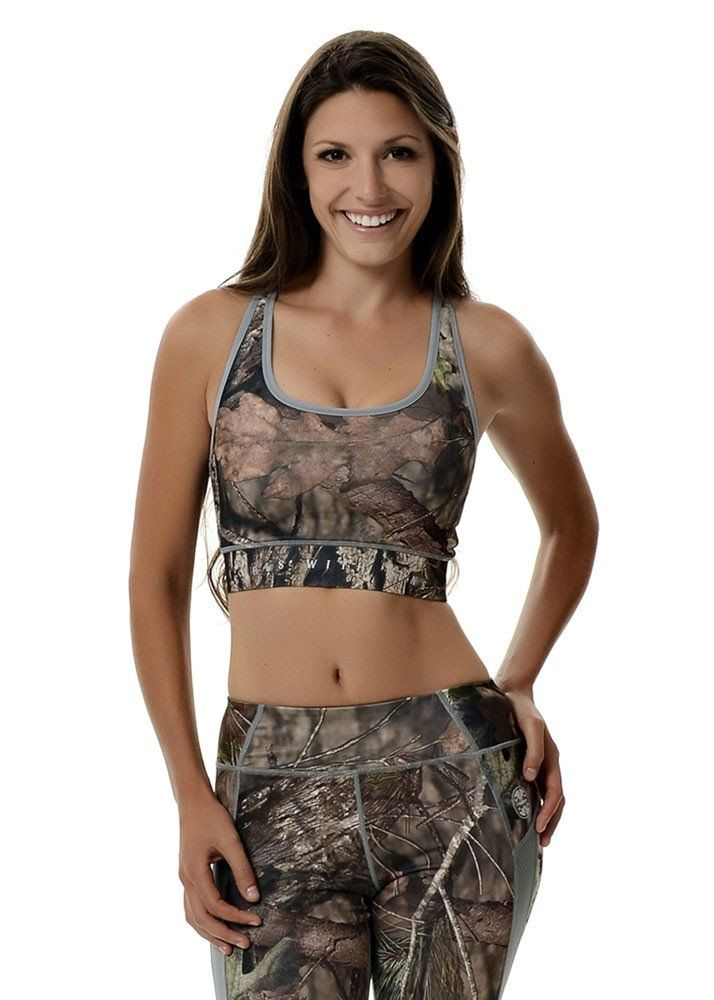 Wilderness Dreams Active Gunmetal Grey Mossy Oak Camo Fitted Tank Top New Large