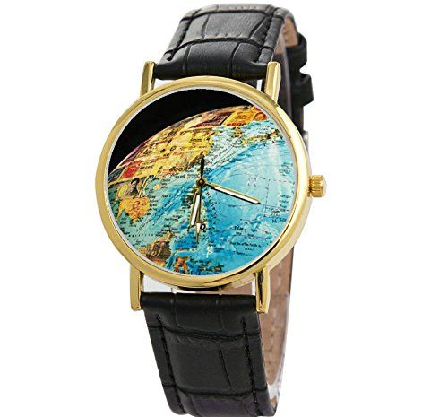 scientists explore watch 3d planet earth world map watches high quality mens leather wristwatch more time