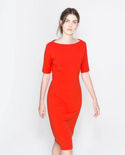 tube dress from zara  bescheidene kleider kurze kleider mit ärmeln kleider für frauen