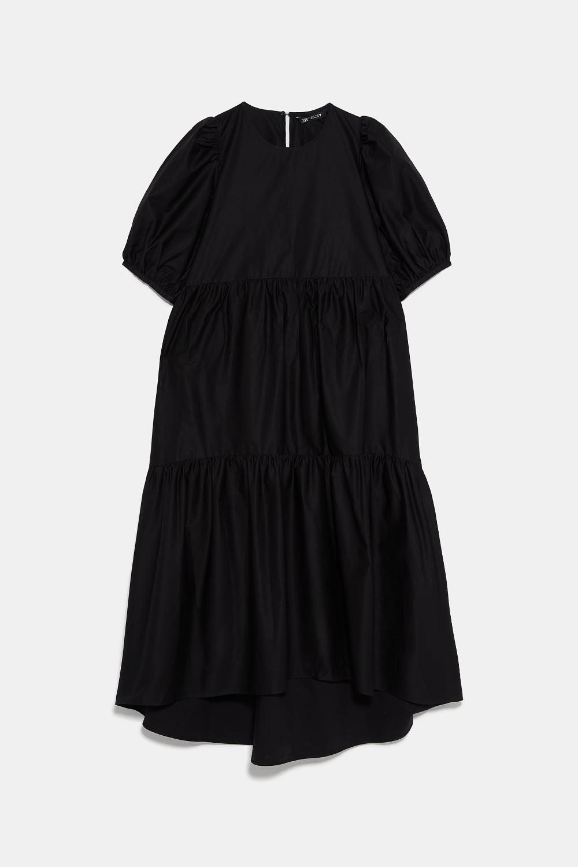 Asymmetric Poplin Dress View All Dresses Woman Zara United States Poplin Dress Casual Holiday Outfits Dresses [ 1500 x 1000 Pixel ]