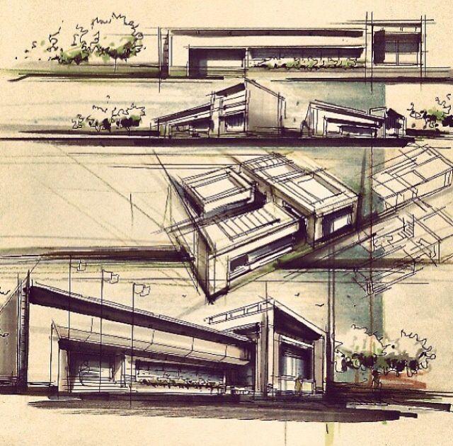 Architektur Zeichnungen Plastik Skizzen Grafiken Zeichnen Futuristische Haus Der Skizzenbuch Skizze Zeitschrift