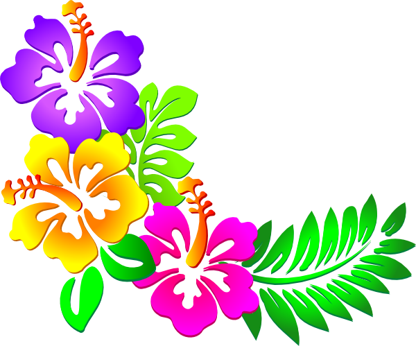 hawaiian clip art borders hibiscus corner clip art rh pinterest co uk Palm Tree Border Clip Art Palm Tree Border Clip Art