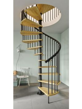 Best The Gamia Wood Spiral Stair Combines The Warm Look Of 400 x 300