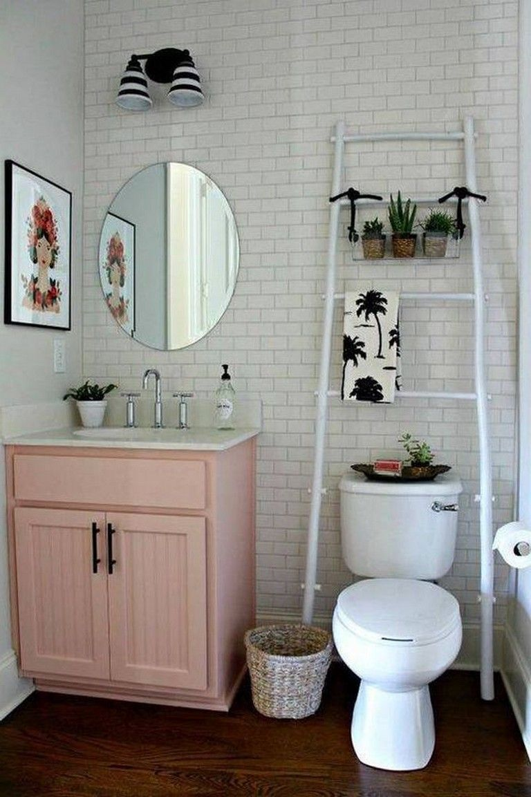 33 Best Small Bathroom Decor Ideas Apartment Decorating Rental Bathroom Decor Apartment Small Apartment Bathroom