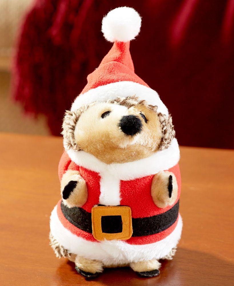 Holiday Grunting Hedgehog Dog Toys Dog Toys Hedgehog Holiday