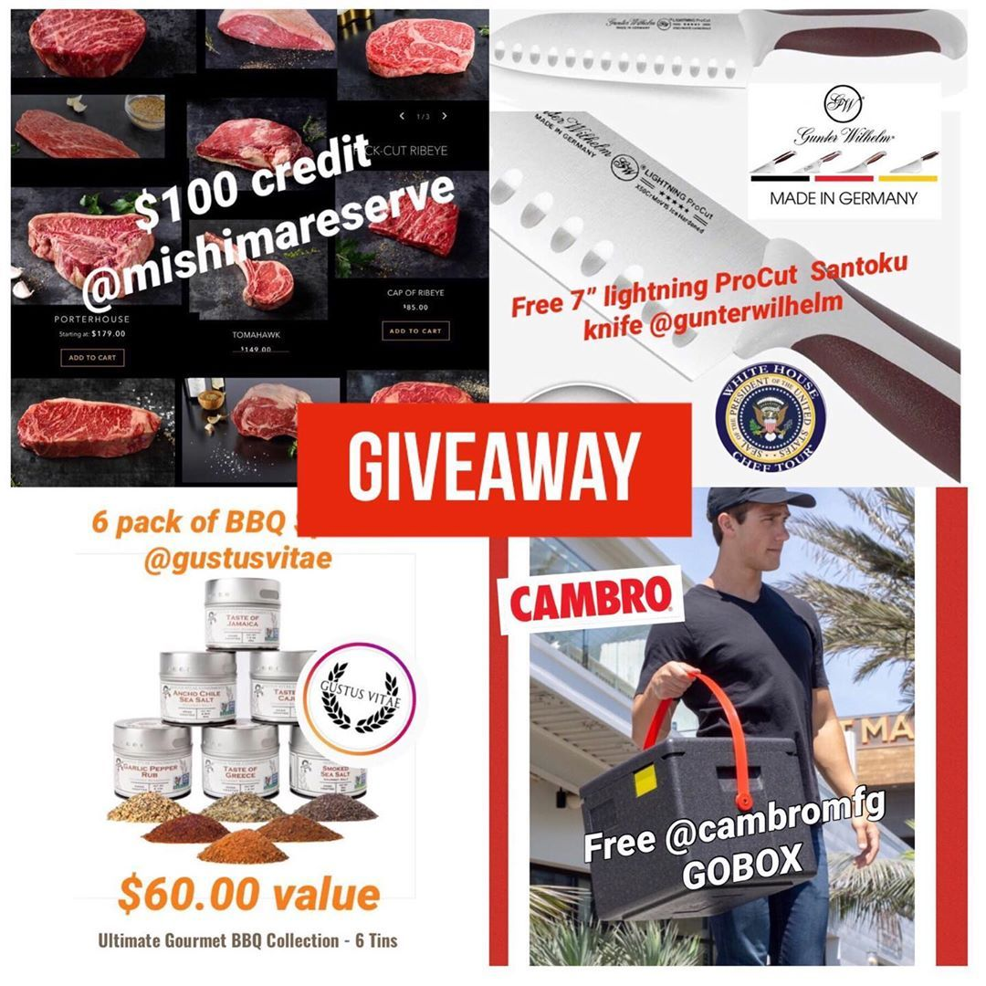 Giveaway Kick Off Saturday By Entering To Win 100 Credit To Use At Mishimareserve And Taste The Best Brand Of American Wagyu Lu Gourmet Bbq Bbq Spice Cambro