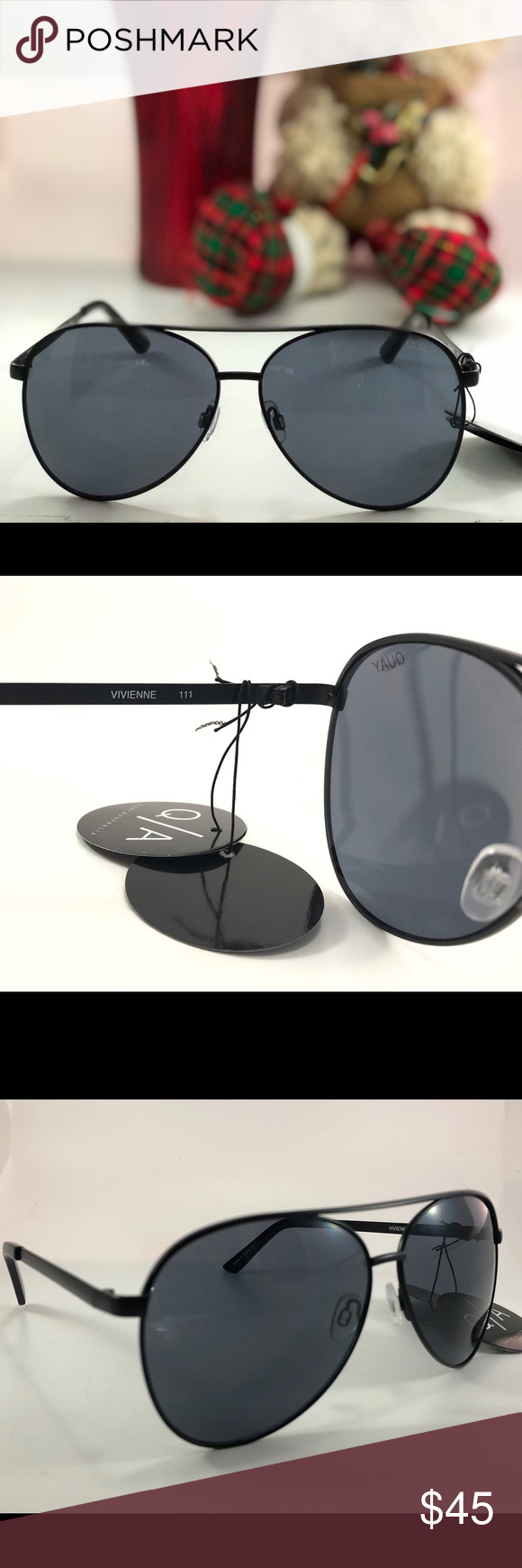 95f8784ab76 Quay Women s Vivienne Black Smoke Sunglasses NWT Features   details  Nickel  Free Metal frame Polycarbonate