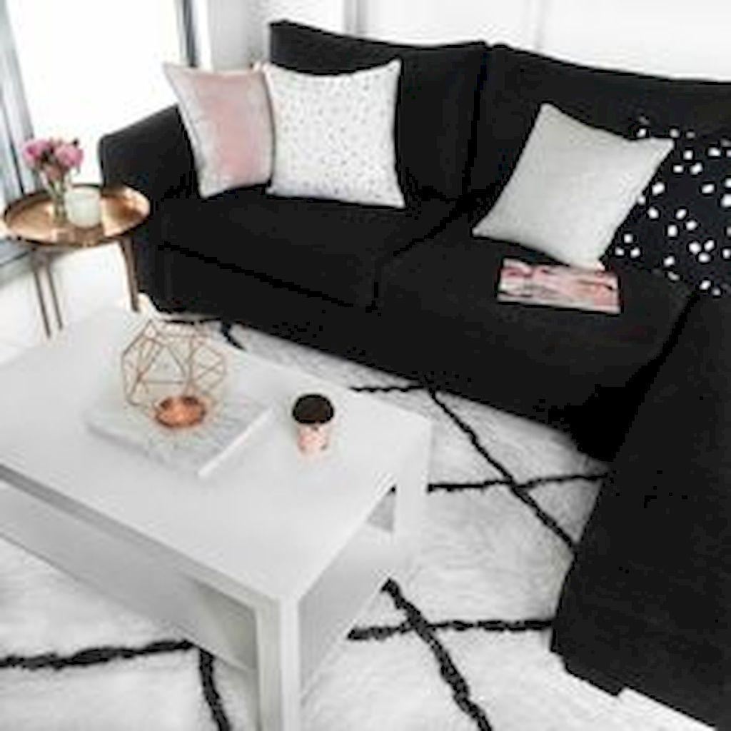 40 Lovely Black And White Living Room Ideas In 2020 Black And White Living Room Black Couch Living Room Black Living Room