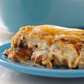 Easy Baked Burrito Casserole #hominycasserolepioneerwoman