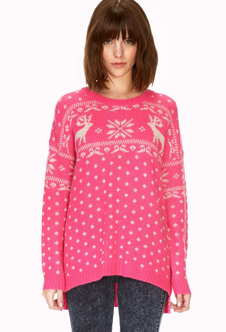 Reindeer Holiday Sweater, Forever 21 | Retro Snap | Pinterest ...
