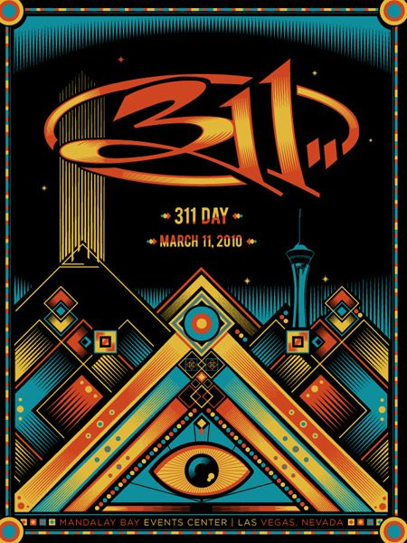 311 Band Custom Poster Print Art Wall Decor 24x36 Inch