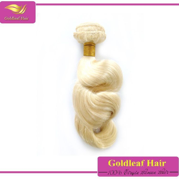 Best Selling Blonde Color 613 Loose Curly Hair For Weaving 613 Loose